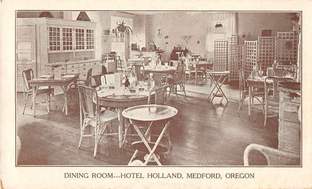 Outstanding Medford Oregon Hotel Holland Dining Room Postcard J54915 At Download Free Architecture Designs Scobabritishbridgeorg