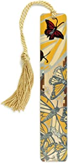 product image for Personalized Monarch Butterflies - Monarchs 2 - Art by Jenny Pope, Handmade Wooden Bookmark with Tassel - Search B01ETS3Y6U for Non-Personalized Version