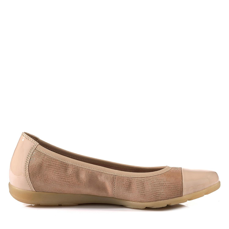 22152-20 22152-20 22152-20 Vivian Damen Ballerina aus Veloursleder Lederinnenausstattung Beige 5bc70b