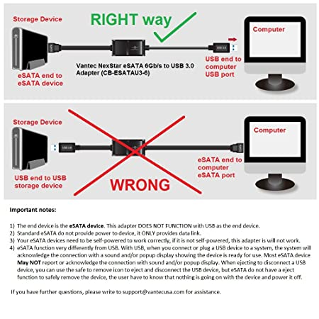 vantec nexstar esata 6gb/s to usb 3 0 adapter (cb-esatau3-6) - buy vantec  nexstar esata 6gb/s to usb 3 0 adapter (cb-esatau3-6) online at low price  in india