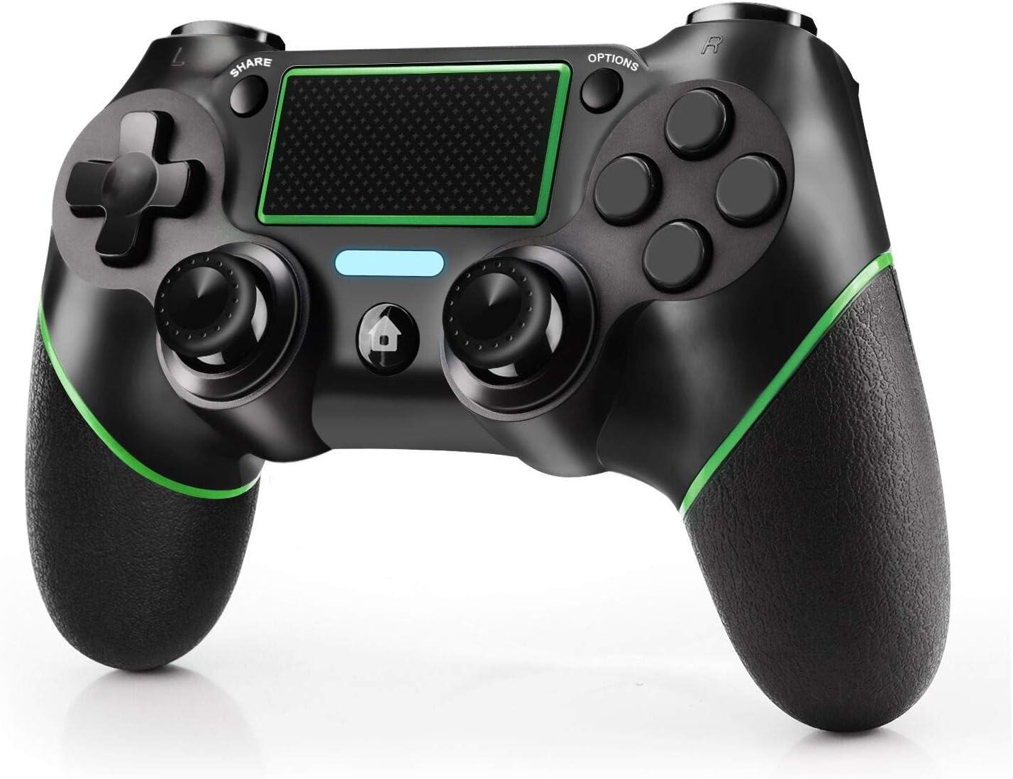 JAMSWALL Mando para PS4, Inalámbrico Controlador para Playstation 4 Wireless Controller Bluetooth Gamepad Joystick con Vibración Doble Jack de Audio de Seis Ejes