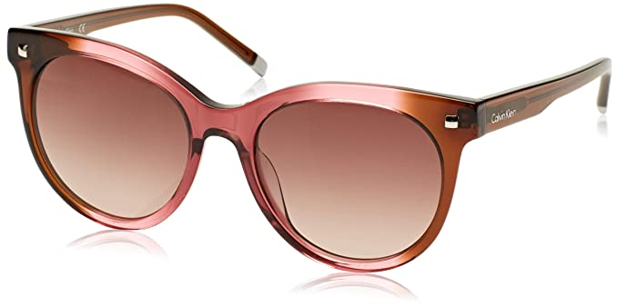 Calvin Klein Cat Eye Gafas de sol, Marrone/Rosa, 56 para ...