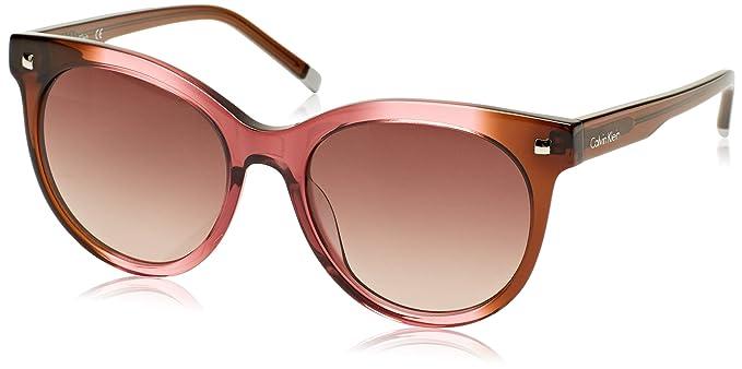 Calvin Klein Cat Eye Gafas de Sol, Marrón (Marrone/Rosa), 56 ...