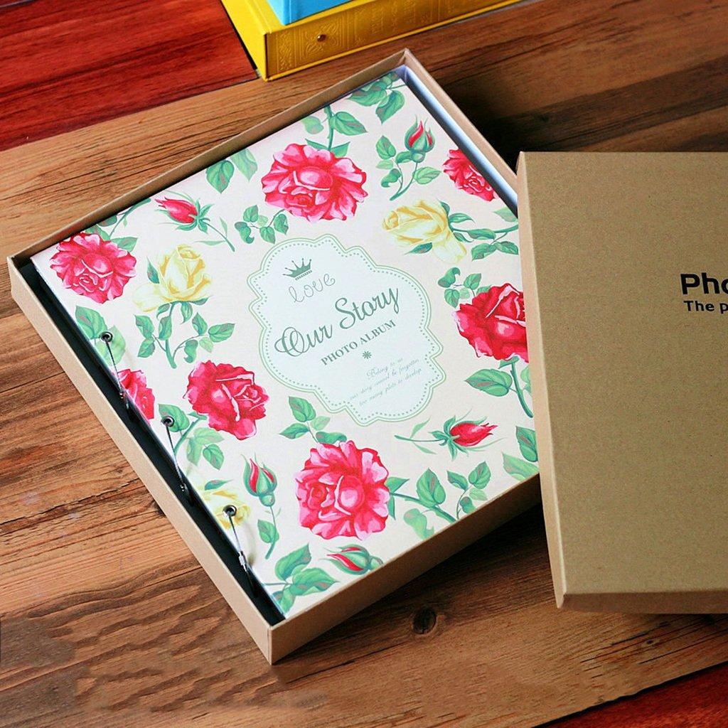 ZYANZ Photo Album- PU Interstitial Album, 1000 Pockets Can Hold 6x4 Photos, Baby Growth Album (Color : C, Size : 33.5x36.5x6.5cm)