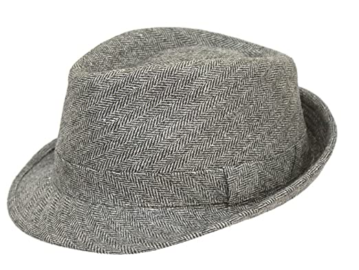 Image Unavailable. Image not available for. Colour  Men s Grey Country  Tweed Trilby Hat f8d919d12f2b