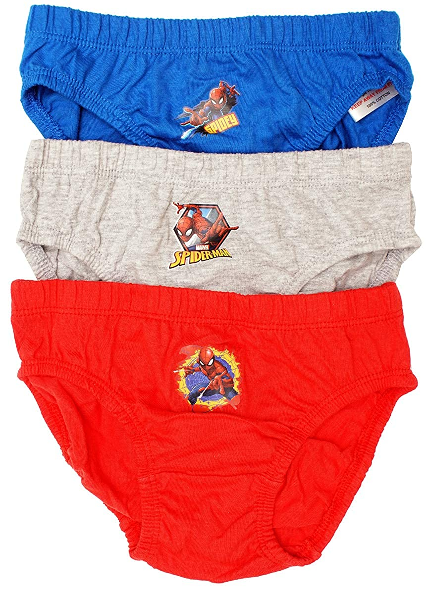 Boys Pack of 3 Marvel Spiderman Cotton Slip Briefs Underpants Sizes from 2 to 8 Years