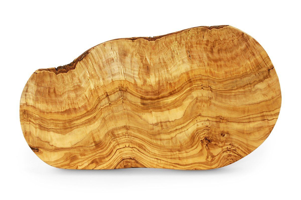 Tramanto Olive Wood Cheese and Serving Board, Large 16 x 8 Inch