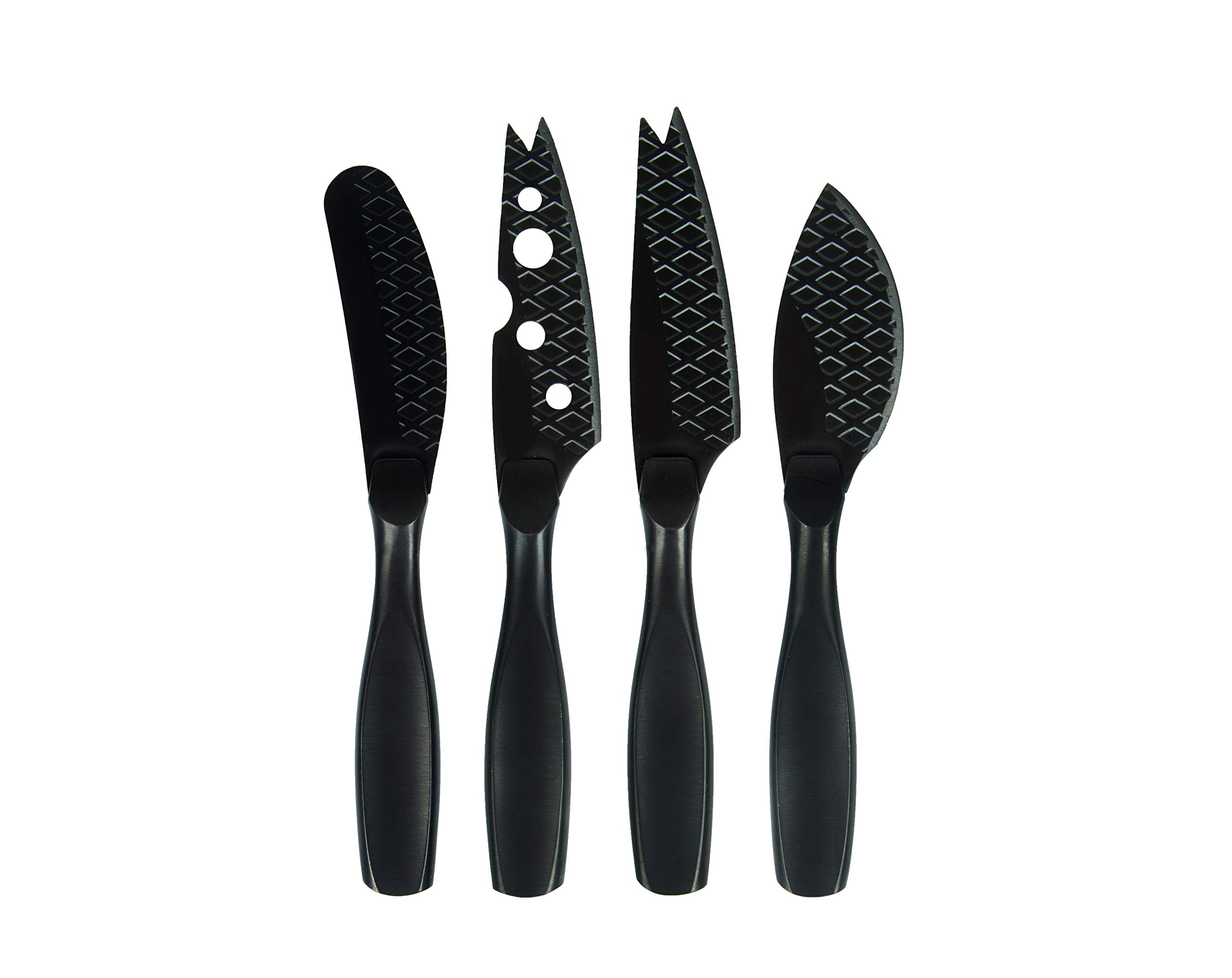 Boska Holland 307088 Monaco+ Cheese Knife Set, Mini, Black by Boska Holland