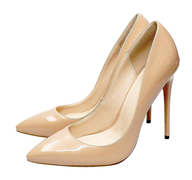 DYF Frauen Schuhe Schuhe Schuhe scharfe Feine hohe Ferse Farbe Größe flach Mund, nackt, 46 - d26407