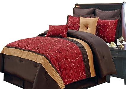 Amazon Atlantis Red Burgundy Gold And Chocolate Queen Size 48 Classy Atlantis Bedroom Furniture Decor