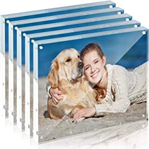 TWING Premium Acrylic Photo Frame Magnet Photo Frame 8x10 Thickness Clear Picture Frame(5 Pack)