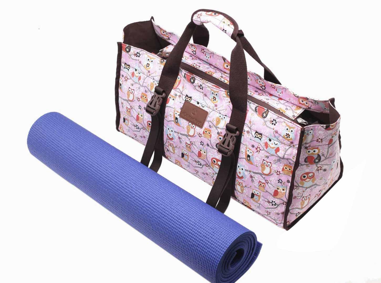 #DoYourYoga Bolsa de Yoga »Mahavir Fabricada con Lienzo de algodón (Lona), laborioso Acabado/para esterillas de Yoga SUPERANCHAS de hasta 100 x 200 x 1,6 ...