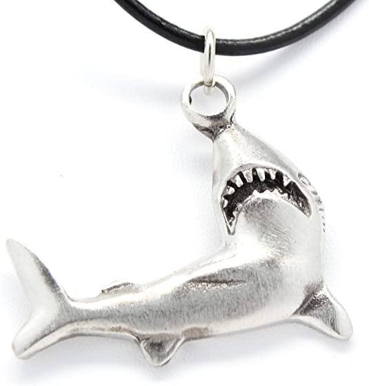 Shark 5 Silver Tone Lead Free Pewter Charms