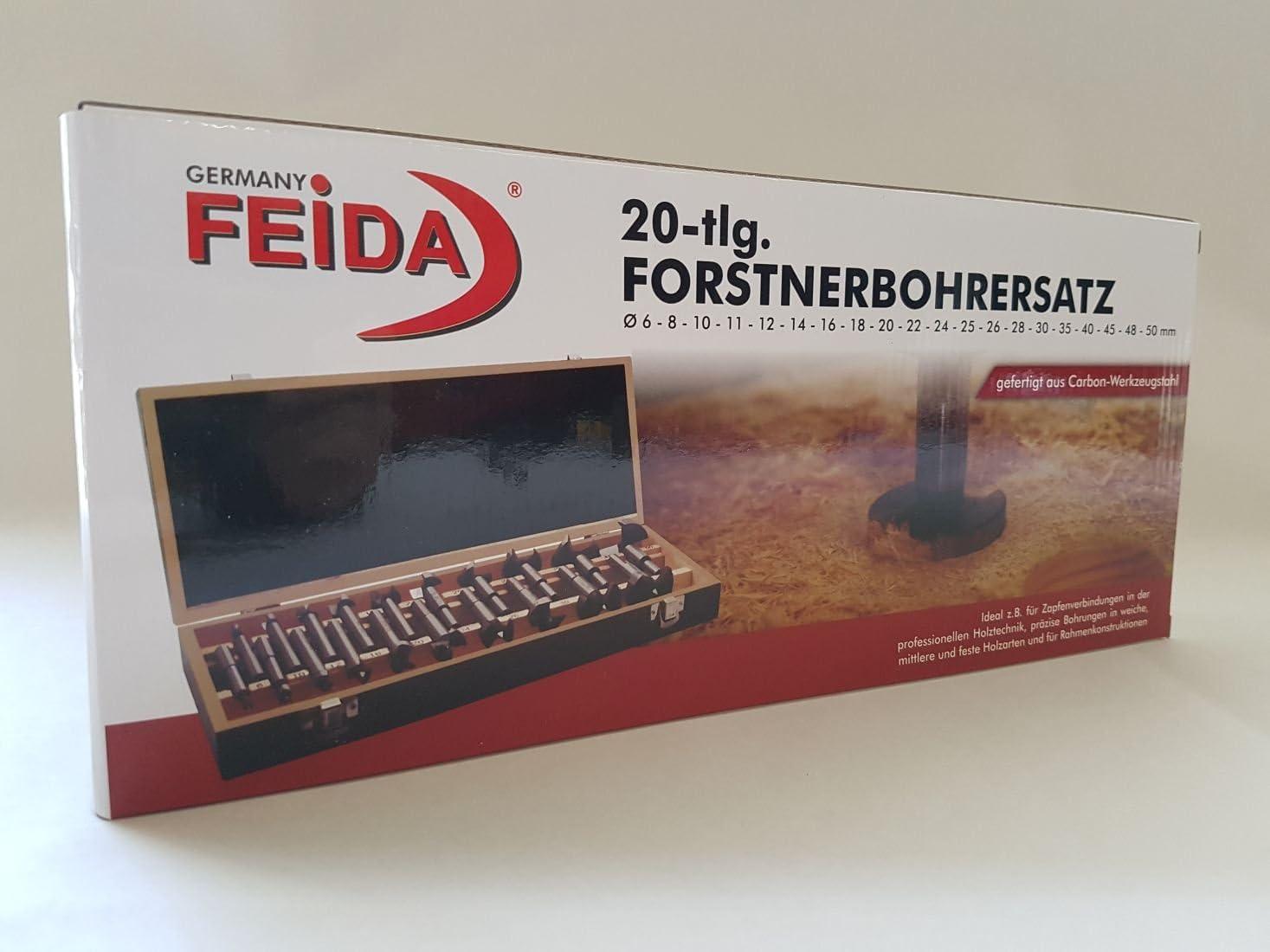 Forstnerbohrer Satz 20 tlg /Ø 6-50 mm Holz Bohrer Astlochbohrer 81202