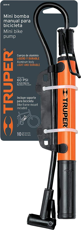 TRUPER BOM-MI Mini bomba de bicicleta: Amazon.es: Deportes y aire libre