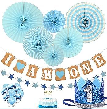 Amazon.com: Set de decoración de primer cumpleaños para el ...