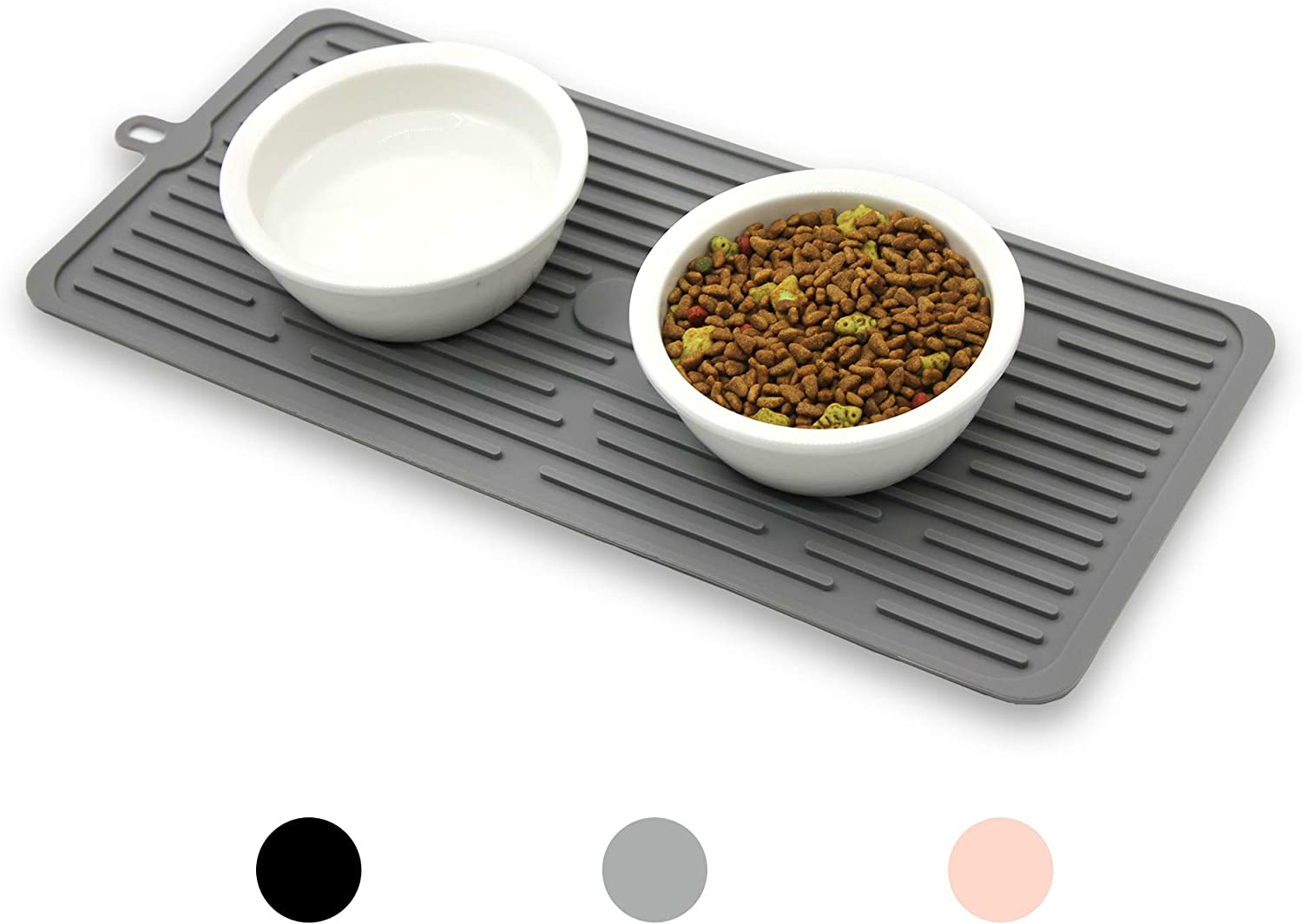 Ptlom Pet Placemat for Dog and Cat, Mat for Prevent Food and Water Overflow, Suitable for Medium and Small Pet