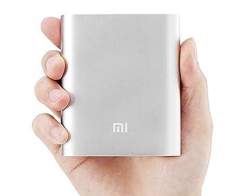 Xiaomi PowerBank 10 - Batería externa de carga rápida para dispositivos móviles (Li-ion 10400mAh), plateado