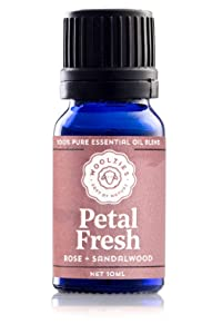 Woolzies 100% Pure & Natural Petal Fresh Essential oil Blend 10 ML | Rose & Sandalwood Therapeutic Grade Oil Blend | Use with Wool Dryer Balls or Oil Diffuser