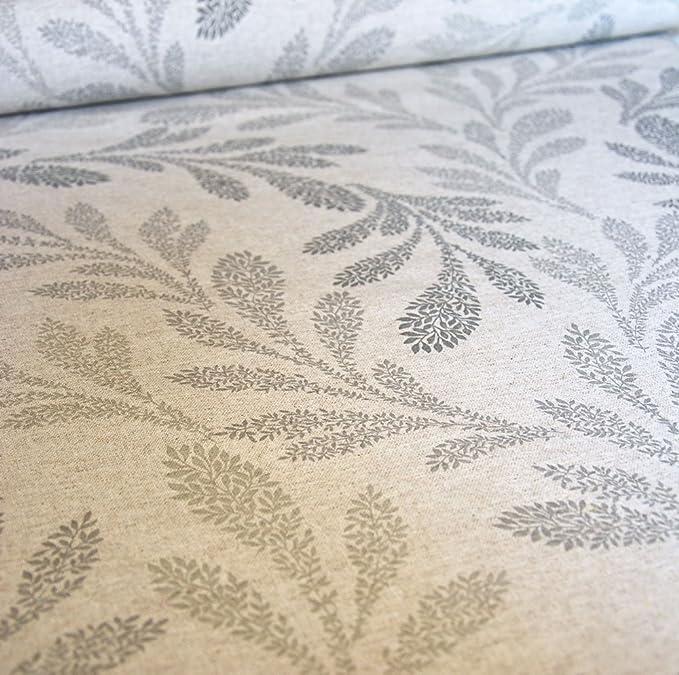 Francés VINTAGE impresión de hule mesa de mimbre gris lino: Amazon ...