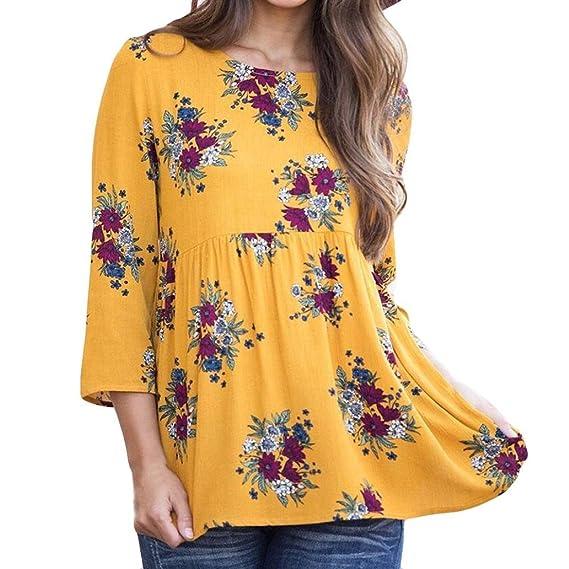 Toamen Camiseta Blusa De La Moda De Tres Cuartos para Mujer Blusa Sin Mangas