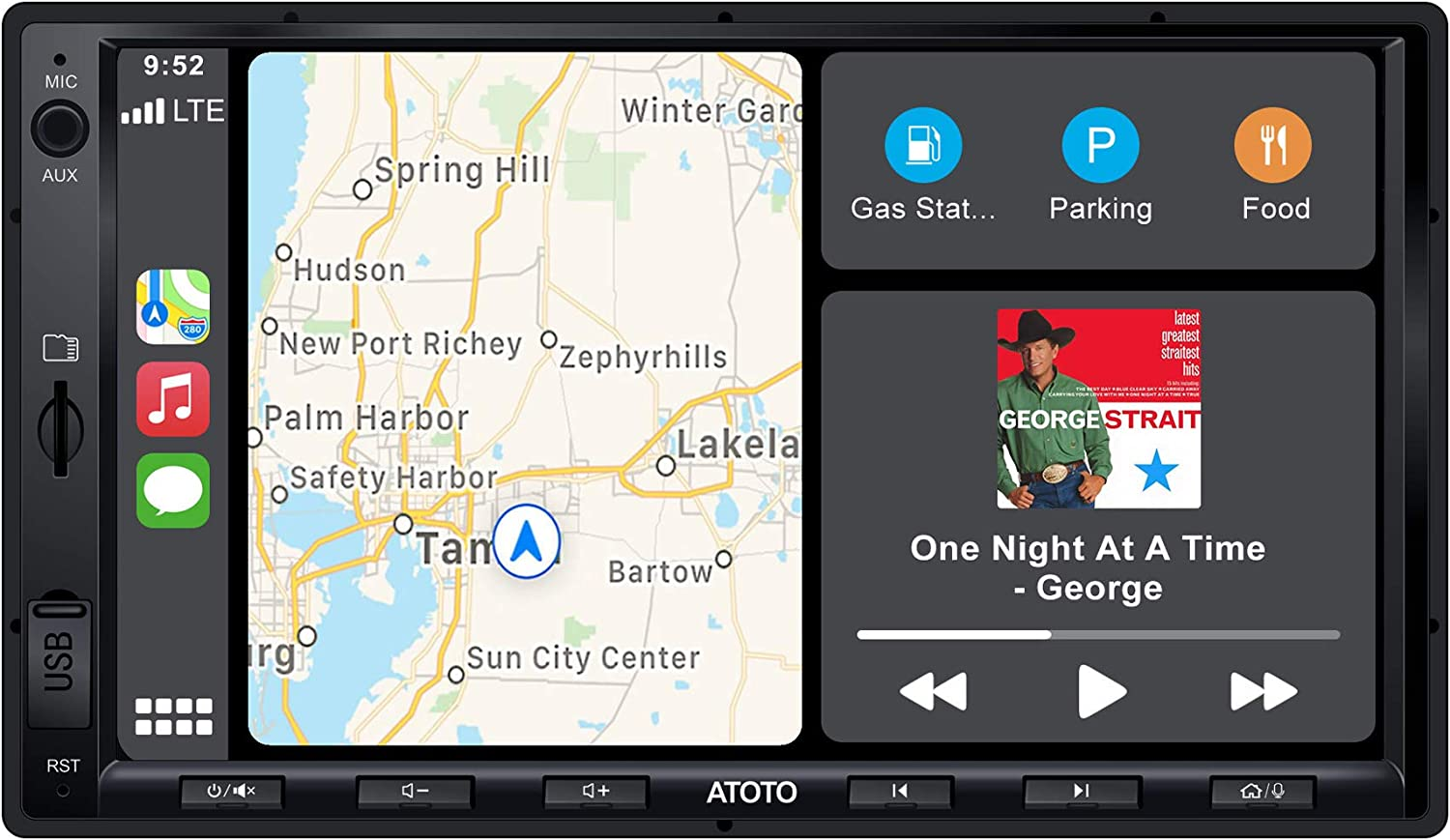 ATOTO F7 Car Stereo Receiver,Android Auto & CarPlay Connection,Mirrorlink/ AutoLink,Fast Phone Charge,Bluetooth,HD Camera Input,Support up to 2TB SSD & 512G SD (Standard 7in/D-Din, F7G2A7SE)
