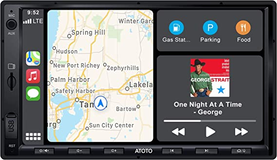 ATOTO F7 Standard 7 inch Double Din F7G2A7SE Car Stereo Receiver, Android Auto & CarPlay Connection,Mirrorlink/ AutoLink,Fast Phone Charge,Bluetooth,HD Camera Input,Support up to 2TB SSD & 512G SD