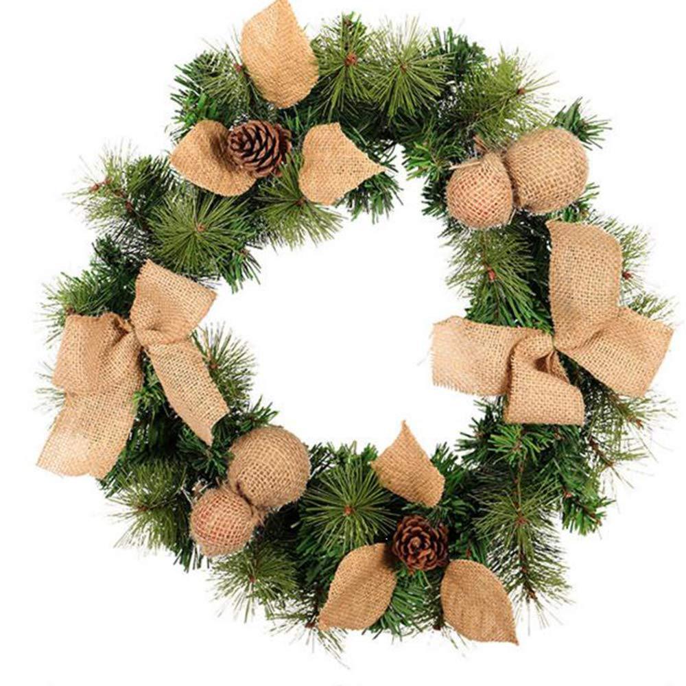 Winter Wreath,Christmas Front Door Decoration,Holiday Wreaths,Green Christmas Door Wreath,Year Round Wreath