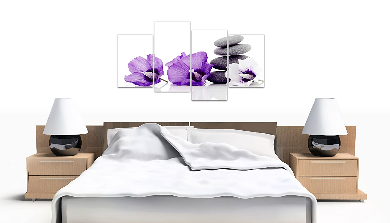 Large Purple Flower Floral Canvas Wall Art Pictures XL Prints Set 4071:  Amazon.co.uk: Kitchen U0026 Home