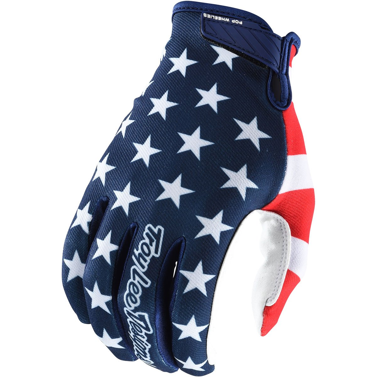 Troy Lee Designs Air Americana Men's Off-Road Mountain Bike Gloves - Navy/Red / X-Large 404496345