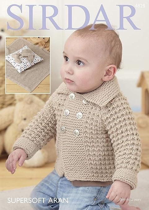 0ed8407ea Sirdar 4828 Knitting Pattern Baby Boy s Jacket Blanket Helmet and ...