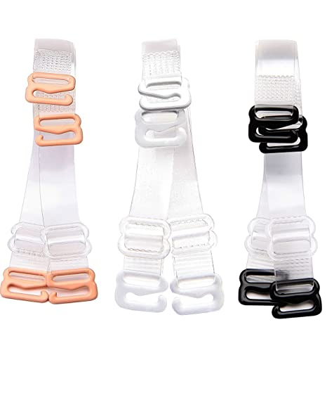 2b7d8e9467 WingsLove 3 Pairs Clear Crystal Invisible Replacement Adjustable Bra  Shoulder Straps(3Pairs-10mm Width