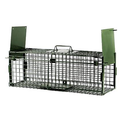 Yaheetech Trampa para Animales Vivos Cepo Jaula Zorro Conejos 65 x 21,5 x 23 cm: Amazon.es: Productos para mascotas