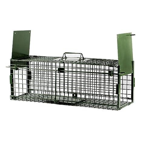Yaheetech Trampa para Animales Trampa Jaula para Zorro Conejo 4 Tamaño XS:65 x 21