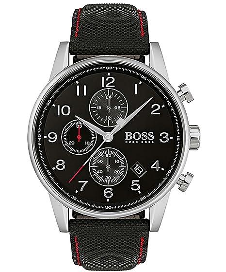 Hugo BOSS Reloj Análogo clásico para Hombre de Cuarzo con Correa en Tela 1513535: Amazon.es: Relojes