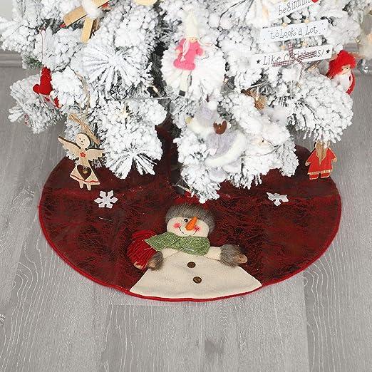 ToDIDAF - Falda para árbol de Navidad, 60 cm, no Tejida, para ...