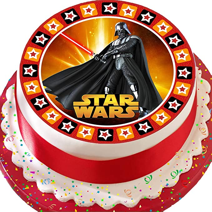 """Star Wars Darth Vader 7.5/"""" Cake Topper Personalised  Edible Wafer Paper"""