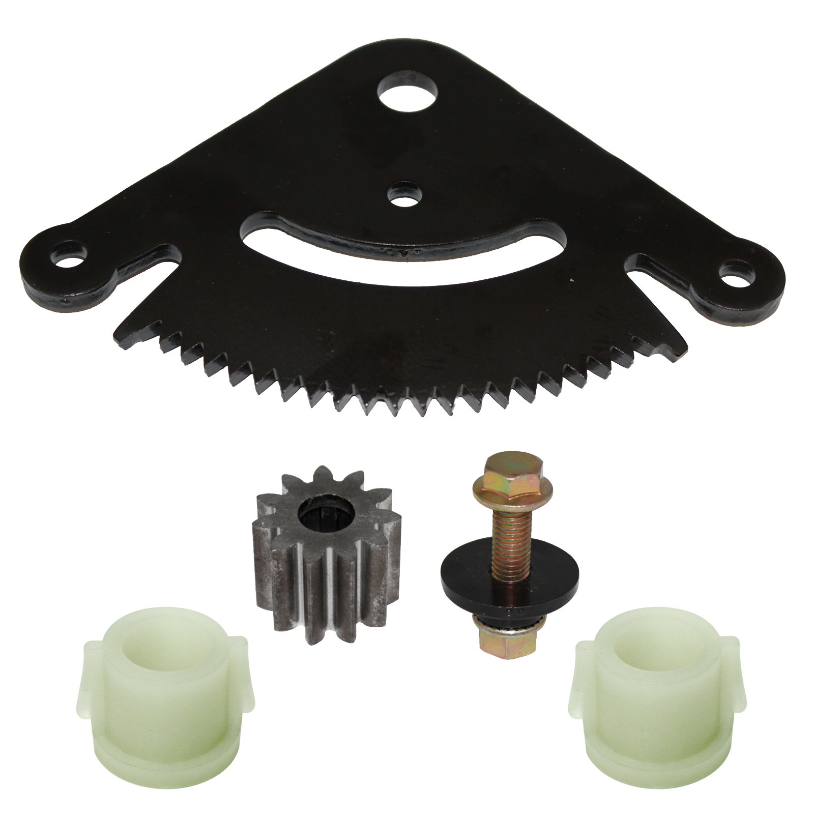 CALTRIC STEERING SECTOR & PINION GEAR w/BUSHINGS FIT JOHN DEERE 102 105 115 125 135 145 by Caltric