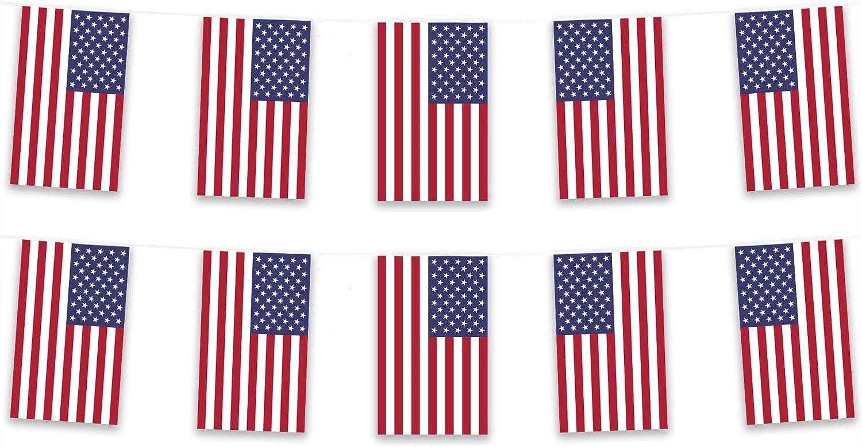 Stati Uniti d America Stars /& Stripes poliestere tessuto Bunting 5/m