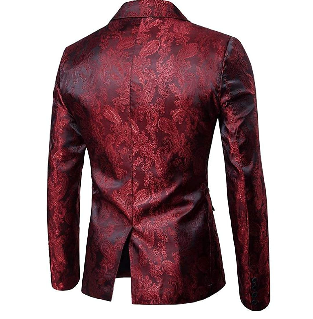 XiaoShop Mens Comfort Soft Turn-Down Collar Fit Dinner Jacket /& Pants