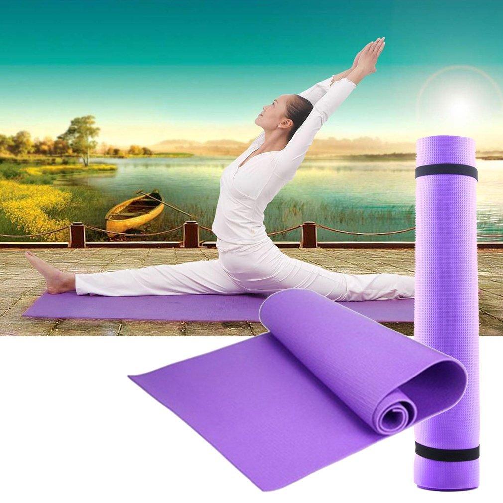 WUY Ejercicio Mat Grueso Antideslizante Yoga Mat Ejercicio ...