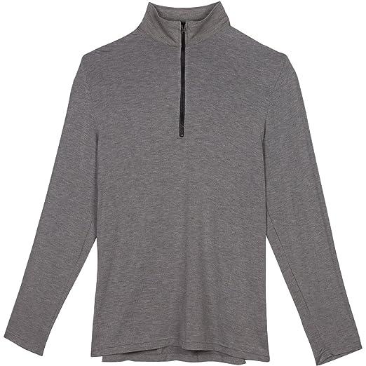 76fb3b5a62 Shedo Lane Mens Sun Protective Long Sleeve Quarter Zip Shirt UPF 50+ SPF UV  Protection Clothing Heather Gray 2XL at Amazon Men s Clothing store