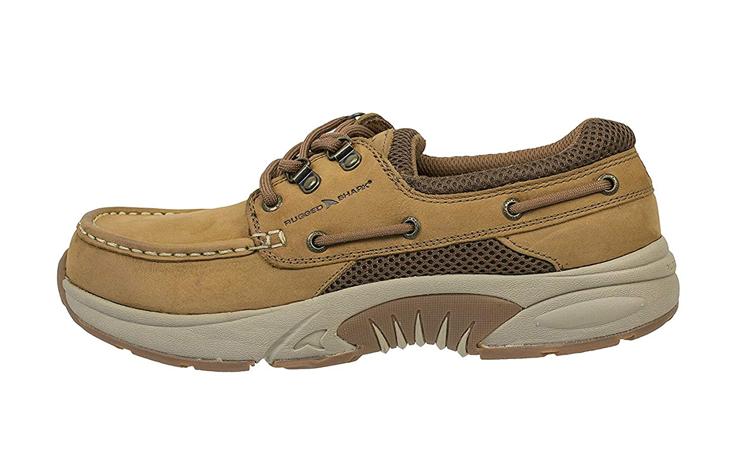 4bc3c9b6 Amazon.com | Rugged Shark Atlantic Mens Boat Shoes, Premium Leather and  Comfort, Copper Brown, Size 8 to 13 | Loafers & Slip-Ons