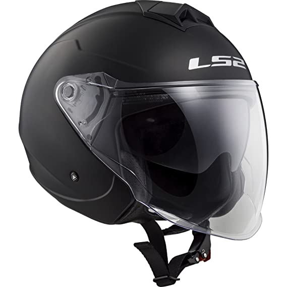 Amazon.es: LS2-305731011S/162 : LS2-305731011S/162 : Casco jet abierto con pantalla solar TWISTER OF573 SOLID COLOR NEGRO MATE TALLA S