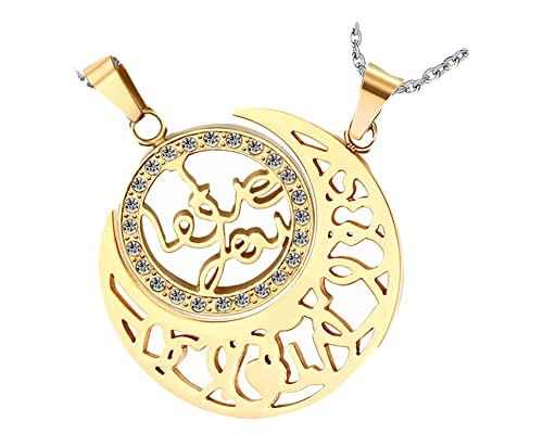 8754674c20 Image Unavailable. Image not available for. Color: Daesar Stainless Steel  Necklace for Couples Set Necklace Moon Sun Women Men Necklace Gold Necklaces