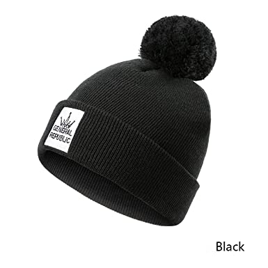 c43fd28a5dc Amazon.com  Printing Embroidery Winter Hat Women Men Knitted Hat Fashion  Female Cotton Hat Cap Men Unisex  Clothing
