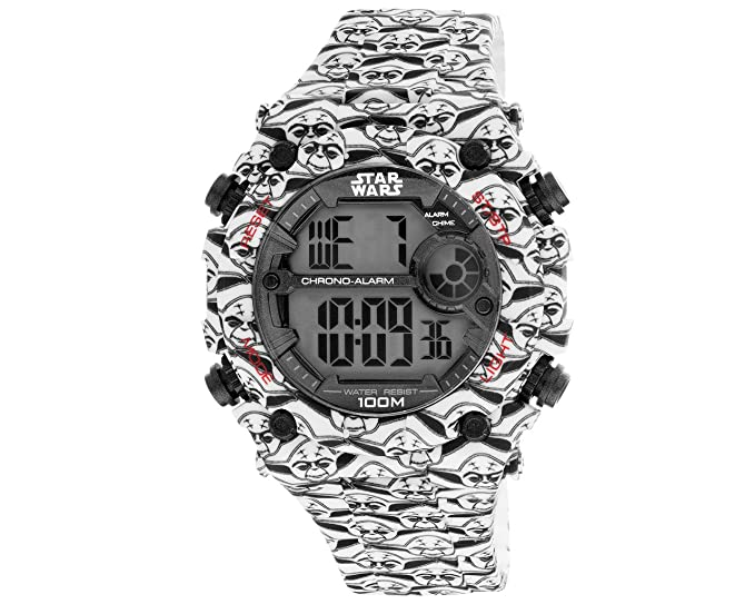 AM: PM Star Wars Yoda de la Hombres Digital reloj de pulsera deportivo Negro/Blanco sp175-g432 51 mm caso: AM:PM: Amazon.es: Relojes