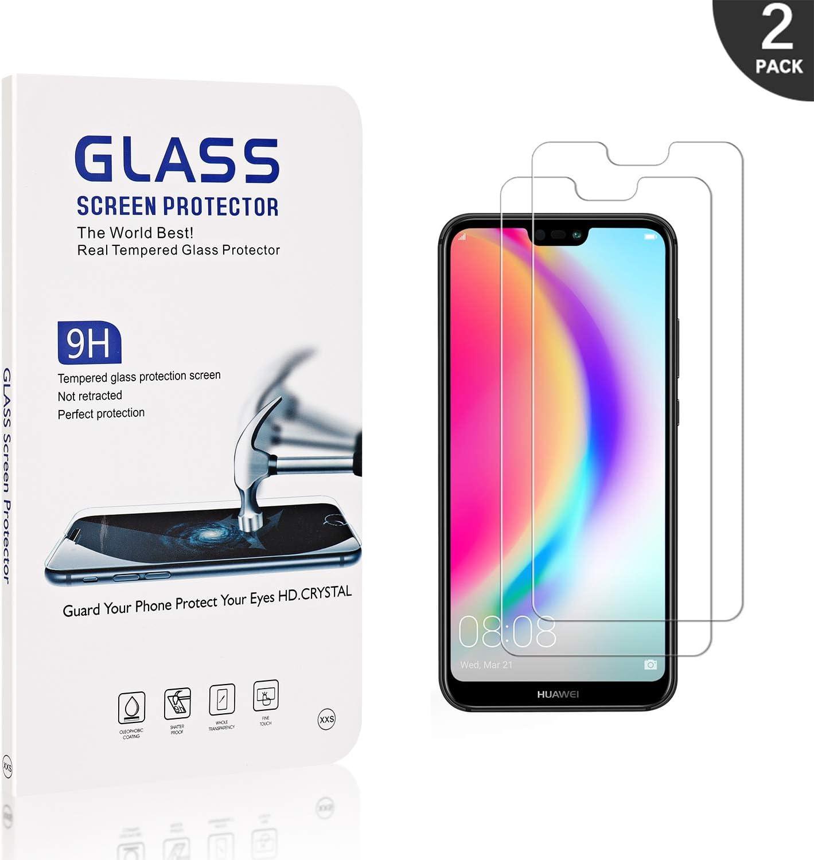 Anti Rayures Prot/ége /écran 2 Pi/èces G/én/érique Verre Tremp/é Compatible avec Huawei P20 Lite LAFCH Transparent HD Protecteur d/écran pour Huawei P20 Lite