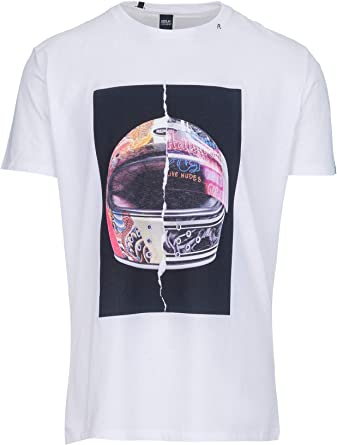 Replay Helmet Print Crew Neck T Shirt