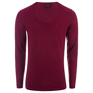 86fc7938 Religion Mens Muscle Fit Long Sleeve T-Shirt in Red: Religion: Amazon.co.uk:  Clothing